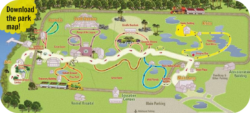 Map of Jacksonville Zoo