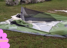 Can and tent stand in a thunderstorm?